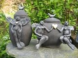 Angel Urns by Tati Dennehy, Ceramics