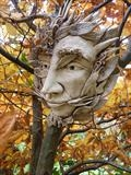 Green Man by Tati Dennehy, Sculpture, Fired Clay