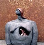 Howling Inside by Tati Dennehy, Sculpture, raku Ceramic