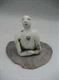 I Feel Love by Tati Dennehy, Sculpture, Porcelain, silver and slate