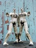 Palindrome Twins by Tati Dennehy, Sculpture, Stoneware ceramic