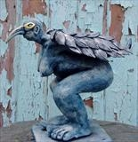 Prayer to Flight by Tati Dennehy, Sculpture, stoneware ceramic
