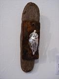 Silver Goddess by Tati Dennehy, Sculpture, Silver, driftwood and rusty metal