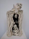 The Three Muses by Tati Dennehy, Sculpture, Fired Clay